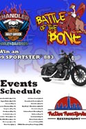 HaneyArt RideNow Powersports Chandler Harley-Davdison Battle of the Bone Promotional Poster